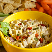 Light Garbanzo Pesto Dip
