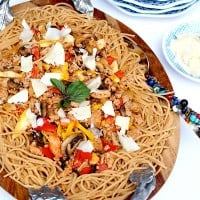 Turkey Mushroom Bolognese - a delicious meal, quick and easy to make for a last minute weeknight dish