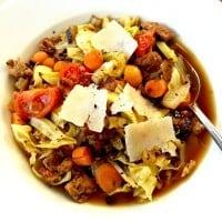 Sausage Cabbage Vegetable Soup