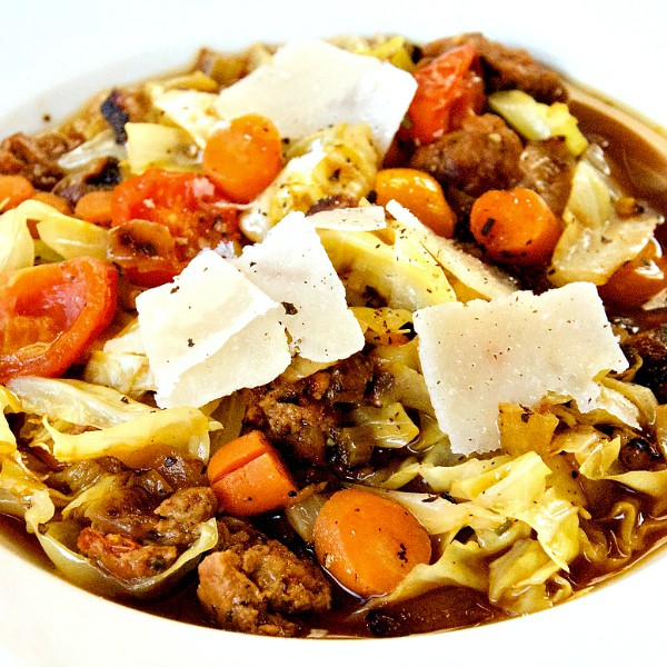 Sausage Cabbage Vegetable Soup
