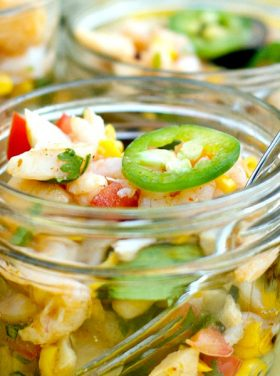 Lighten up entertaining with this fresh, healthy appetizer or salad: Seafood Ceviche