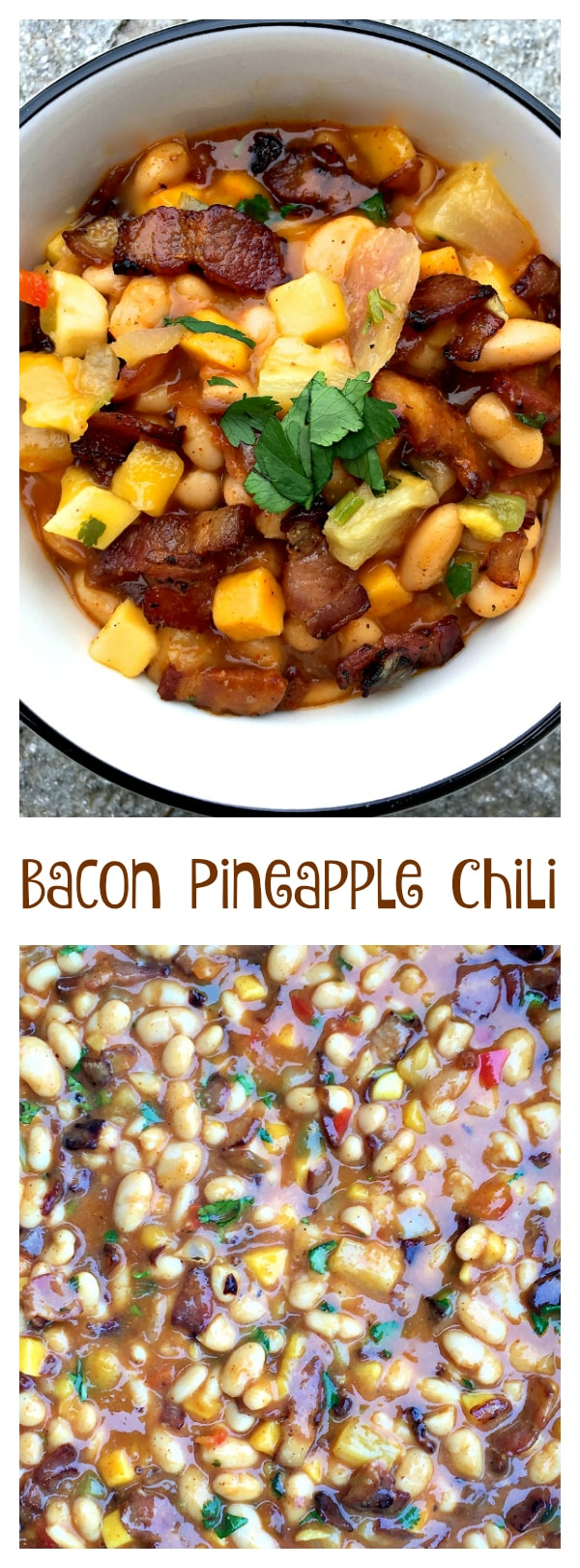 Enjoy this Bacon Pineapple Chili recipe with only 7 ingredients, easy enough to make and serve in 30 minutes
