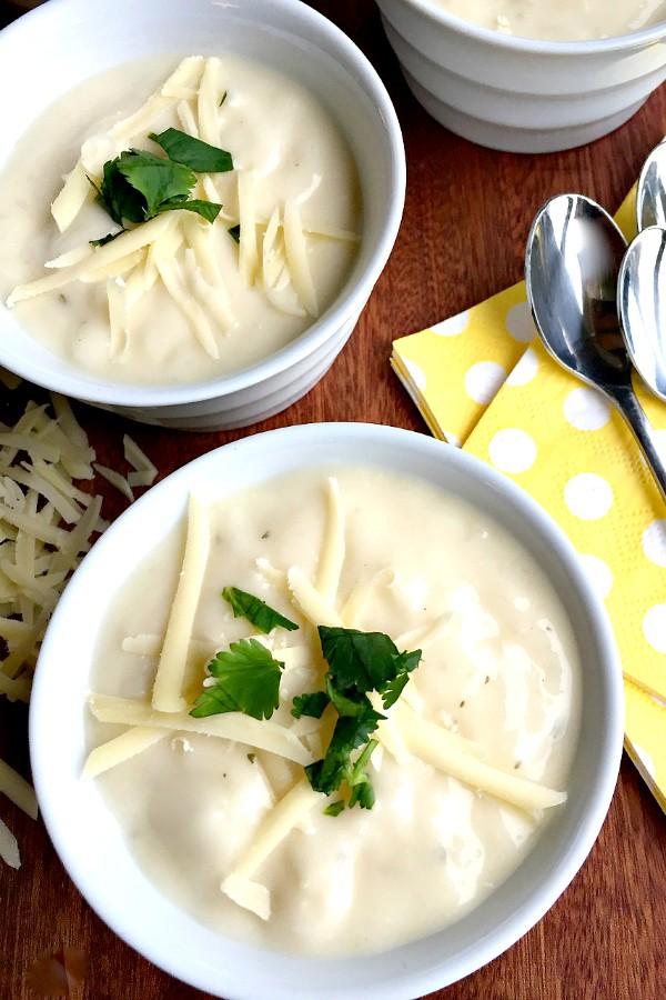 Cauliflower White Cheddar Cheese Soup