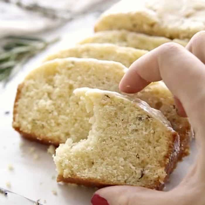 Downton Abbey Lavender Tea Bread - bite