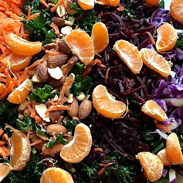 Kale Citrus Salad with Tahini Dressing