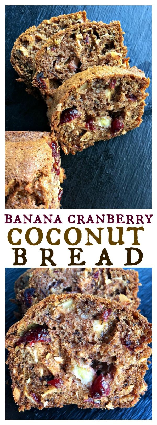 Banana Cranberry Coconut Bread