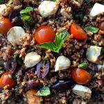 Wild Rice Salad, delicious served cold, at room temperature, or slightly warm (with melted cheese).