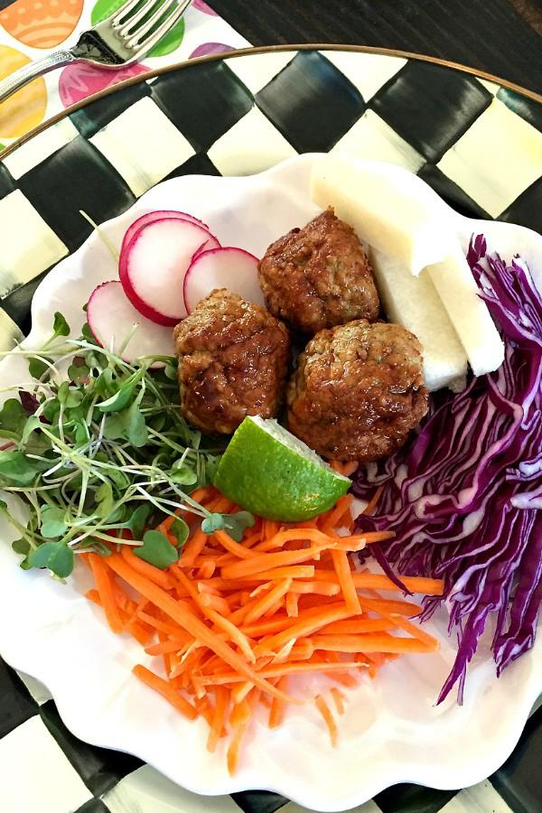 Pork Meatball Salad