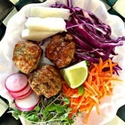Pork Meatball Salad