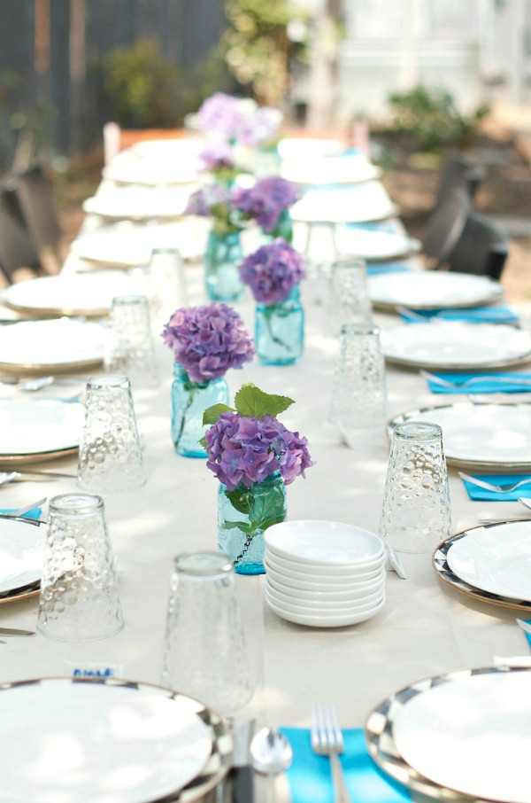 Olive Cheese Puffs - Hydrangea table