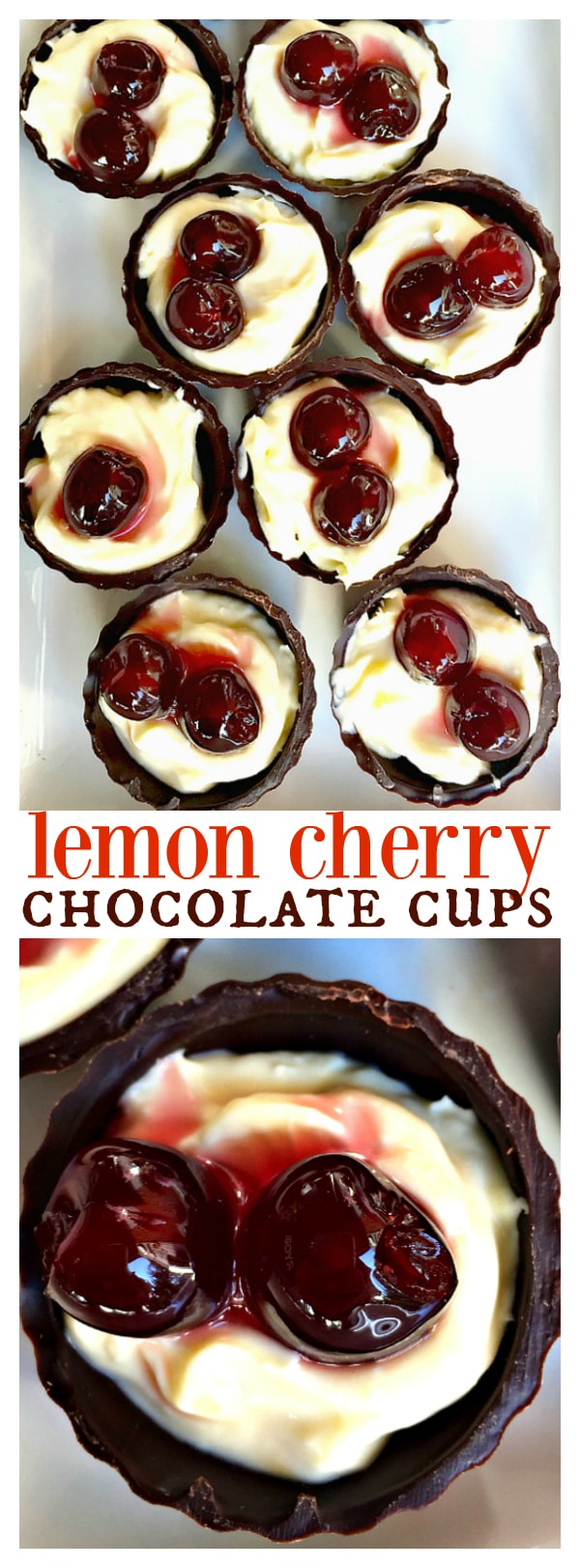 Lemon Cherry Chocolate Cups for easy entertaining