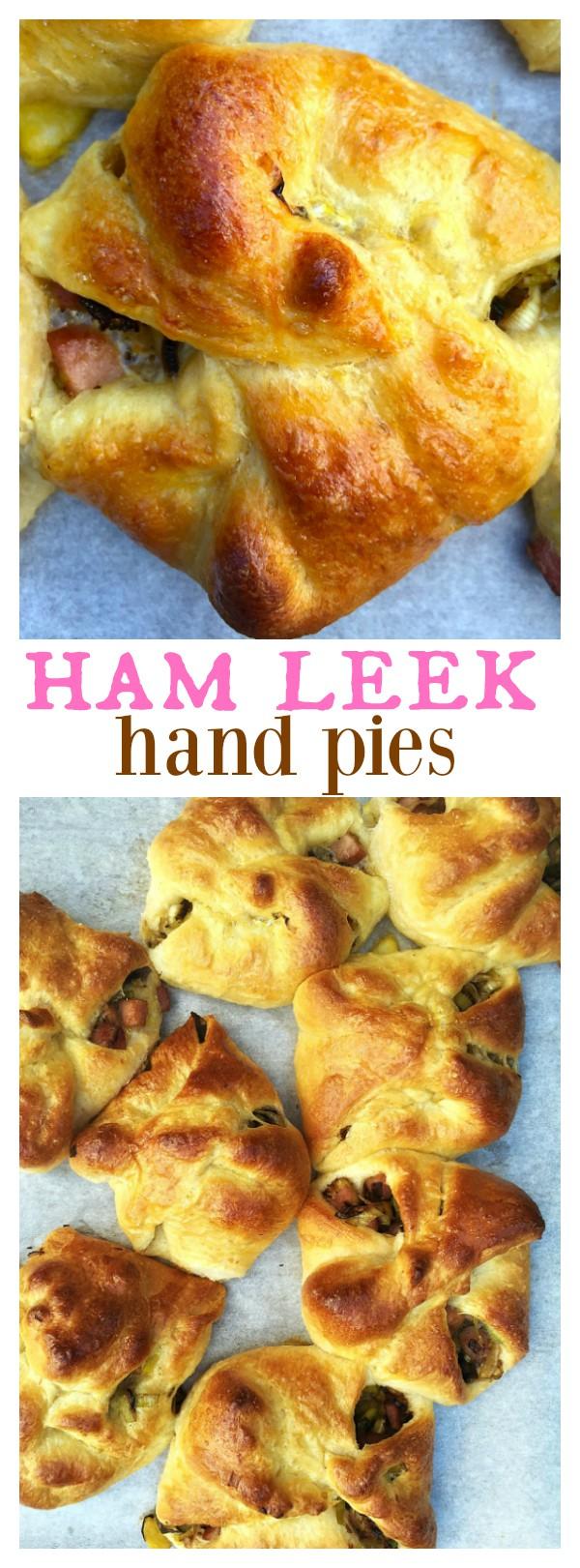 Ham Leek Hand Pies