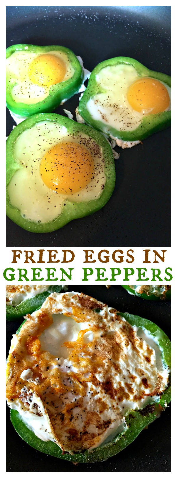 St. Patrick's Day Fried Eggs in Green Pepper Rings recipe