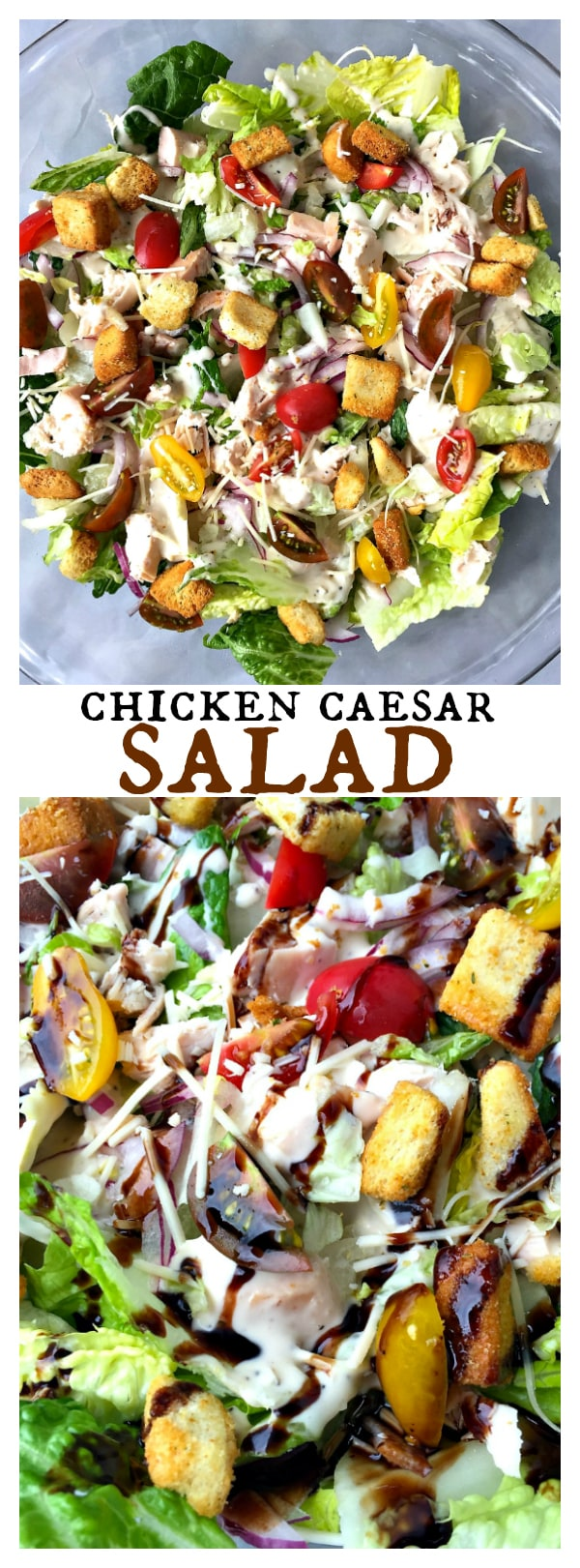 Chicken Caesar Salad with homemade dressing