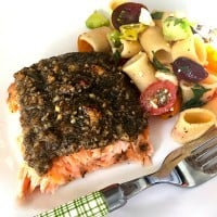 Macadamia Lime Baked Salmon - dinner in 30 minutes!