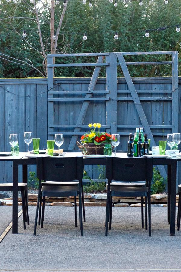 St. Patrick's Day Menu - set the table