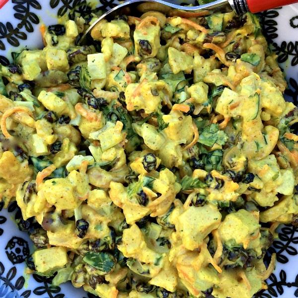 Chicken Curry Cashew Salad