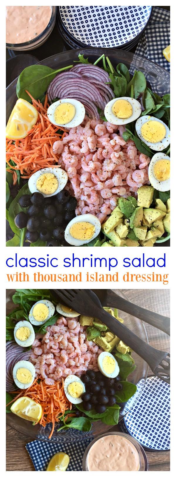 Classic Shrimp Salad with Thousand Island Dressing