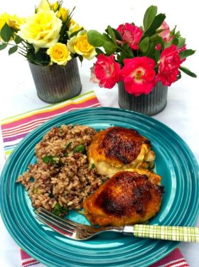 Apricot-Glazed Chicken Thighs