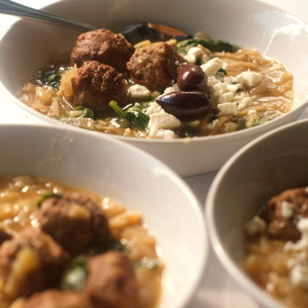 Slow Cooker Mediterranean Meatball Soup