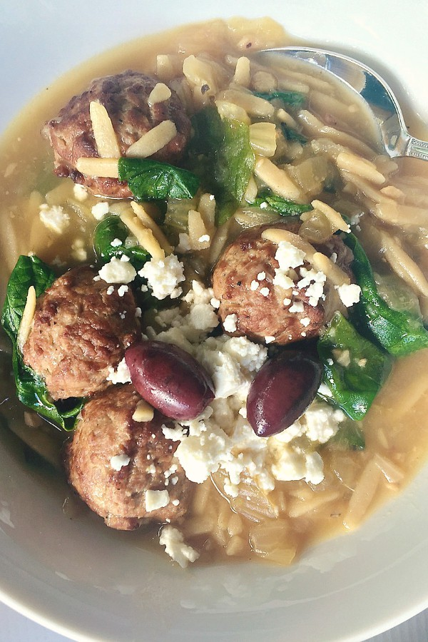 Slow Cooker Mediterranean Meatball Soup
