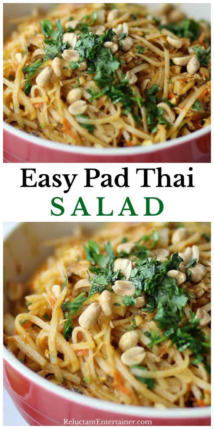 BEST Easy Pad Thai Salad