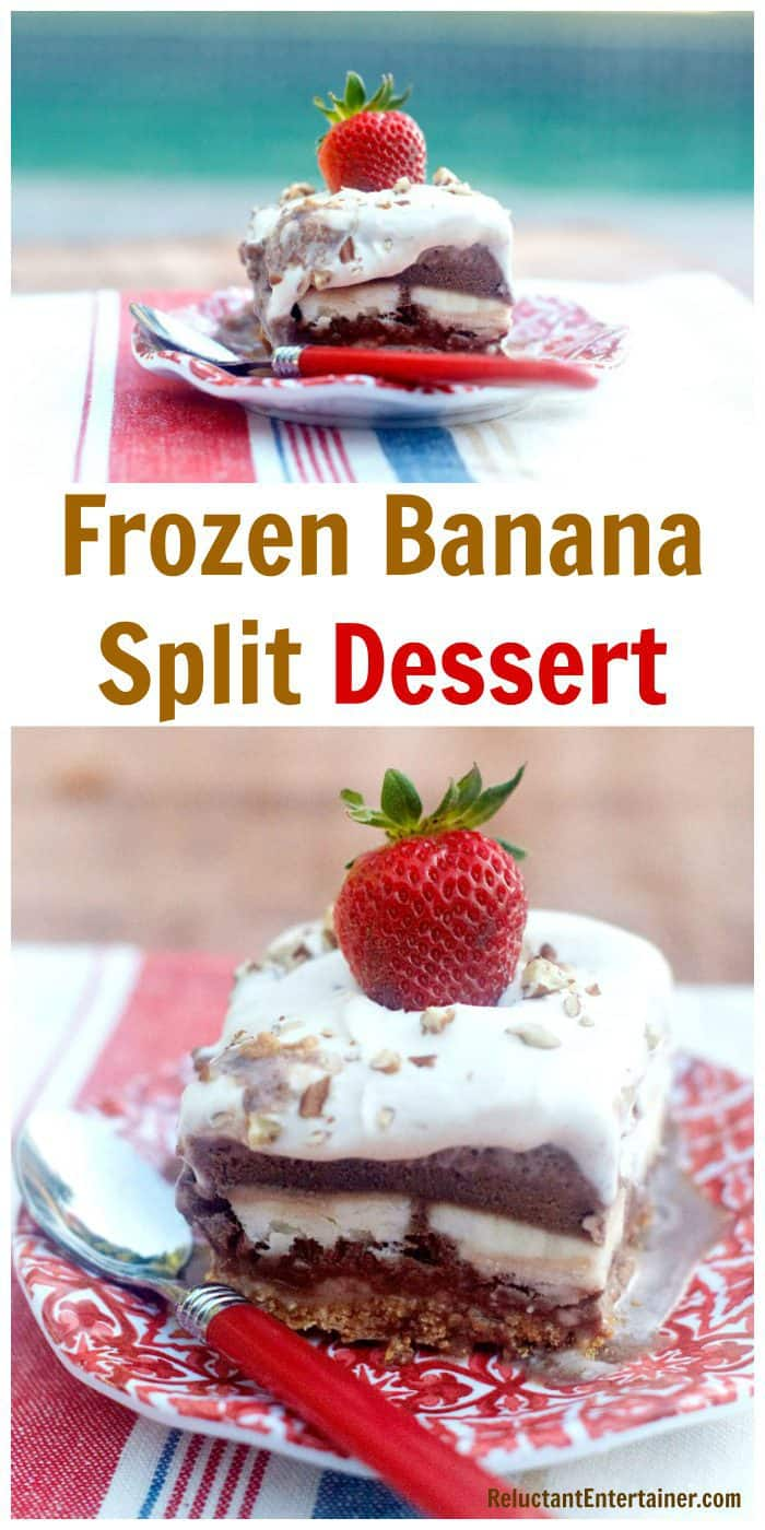 Make-ahead Frozen Banana Split Dessert Recipe