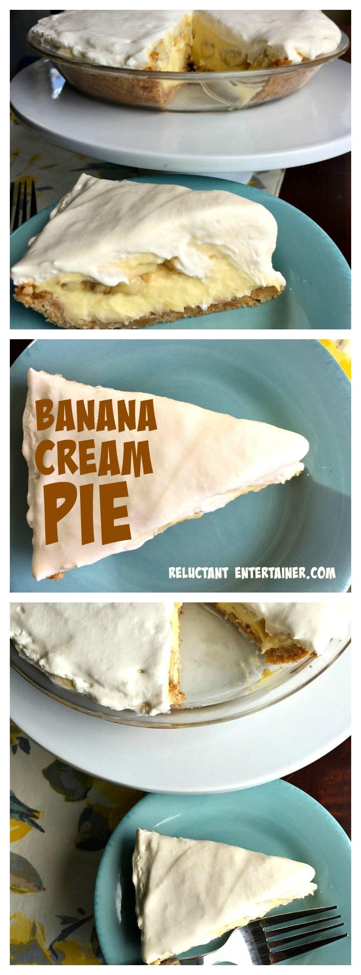 Banana Cream Pie at ReluctantEntertainer.com
