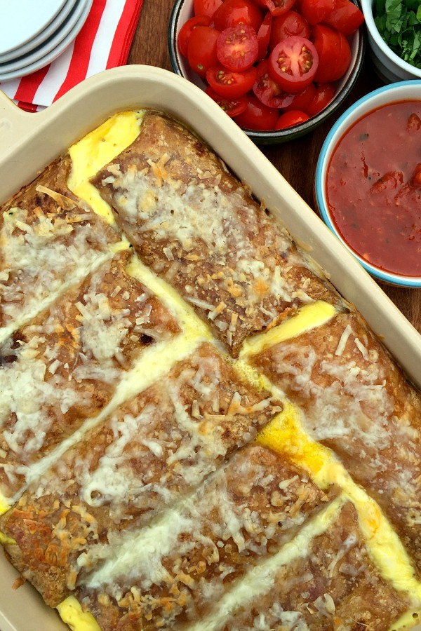 Overnight Breakfast Sausage Enchiladas