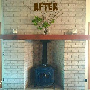 Annie Sloan Paris Grey Fireplace Makeover