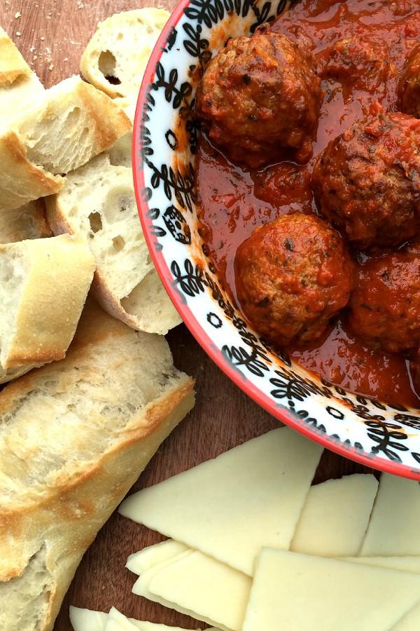 Easy Meatball Crostini Appetizer