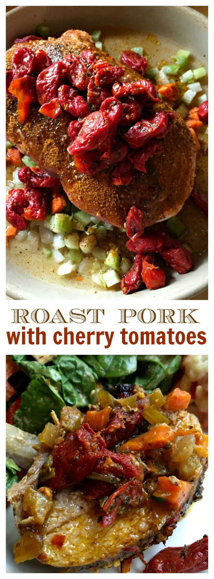 Pork Roast with Cherry Tomatoes