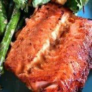 Cooked Broiled Teriyaki Salmon
