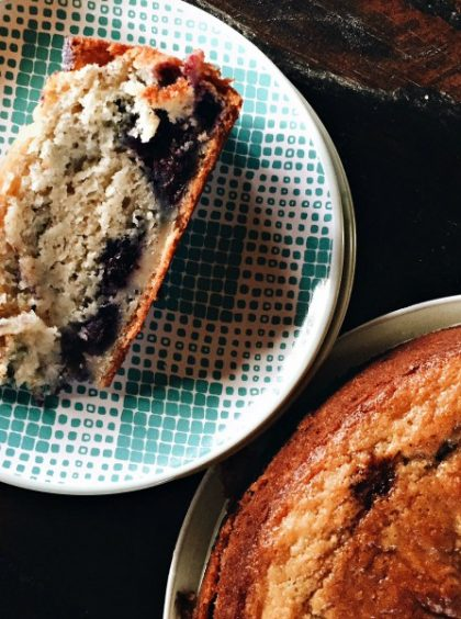 Blueberry Banana Breakfast Cake