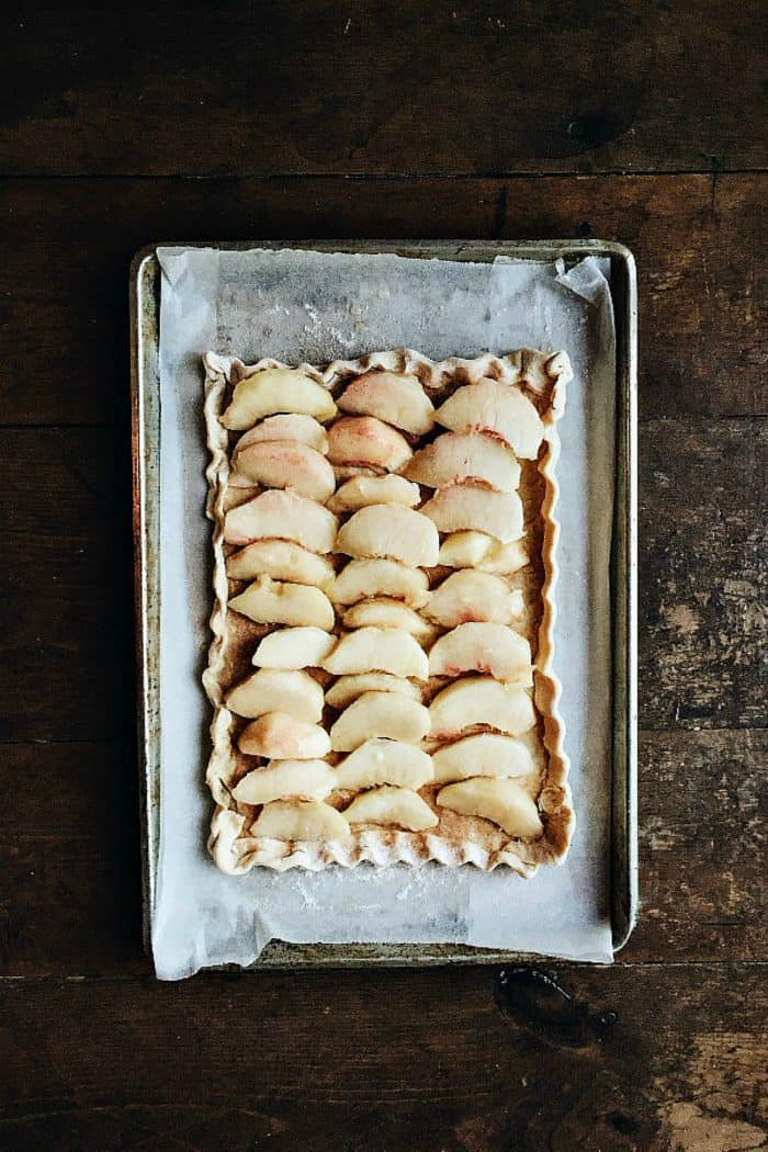 How to make peach tart