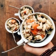 Elbow Macaroni Chicken Noodle Soup is a delicious crock pot meal, made with whole wheat pasta!