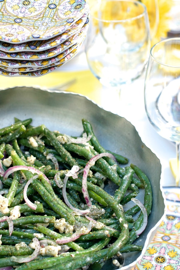 Green Beans Blue Cheese Salad