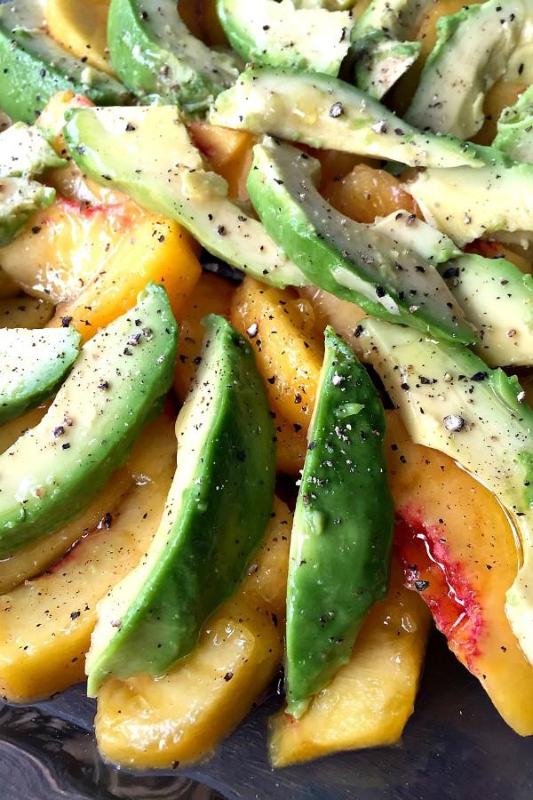 Peach Avocado Salad