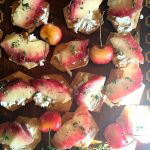 White Peach Goat Cheese Appetizer is perfect for summer entertaining or a light snack, made with fresh white peaches and fresh thyme!