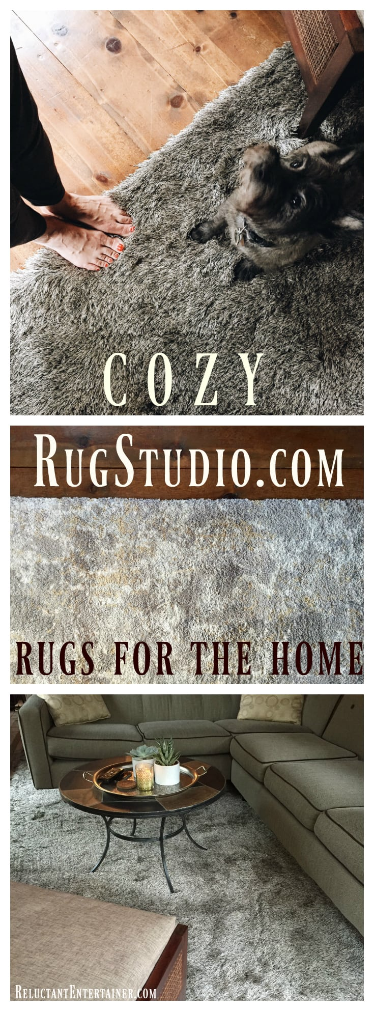 Cozy RugStudio Rugs for the Home - Mountain Home DIY | ReluctantEntertainer.com
