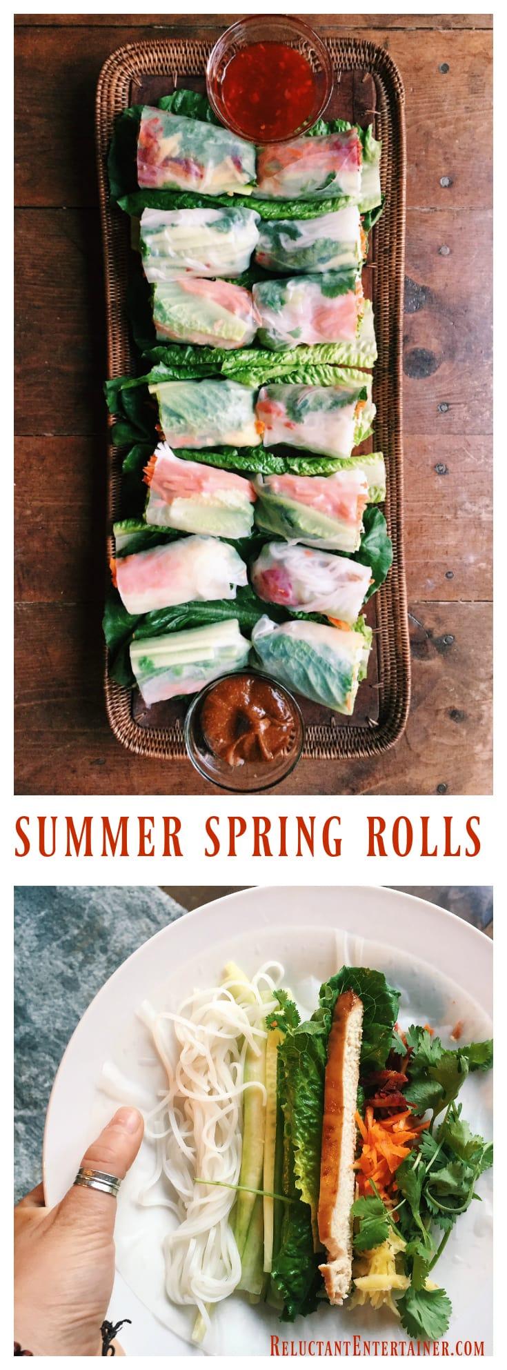 Summer Spring Rolls at ReluctantEntertainer.com