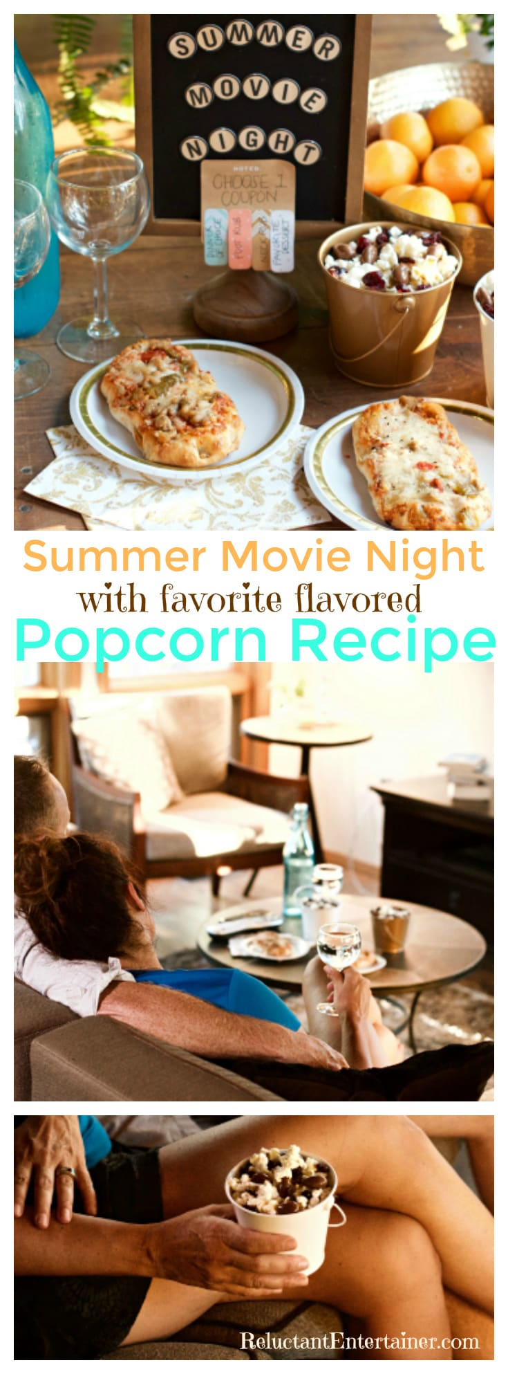 Create a lasting memory of fun and relaxation for a Summer Movie Night, and your favorite flavored popcorn | ReluctantEntertainer.com