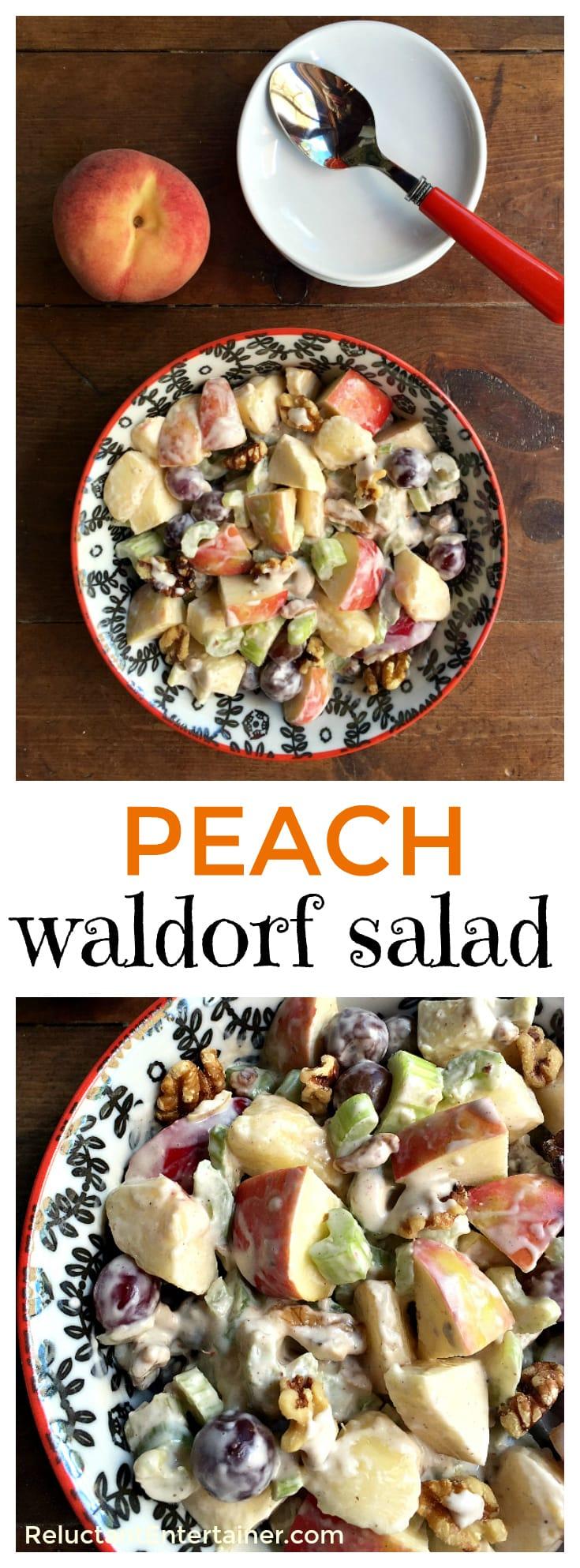 Peach Waldorf Salad Recipe