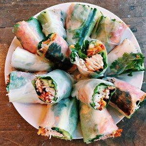 Salmon Spring Rolls Recipe