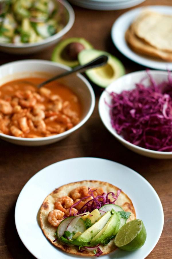 Thai Chili Lime Shrimp Tacos