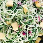 zoodle cucumbers with pineapple