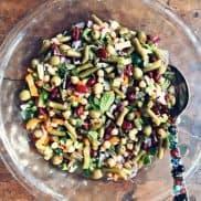 Pimiento-Stuffed Olive Three Bean Salad