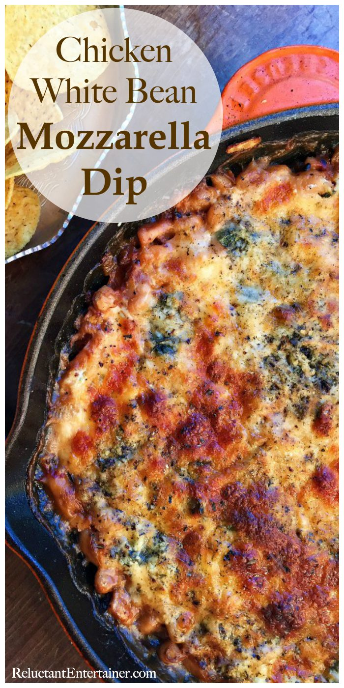 Chicken White Bean Mozzarella Dip Recipe