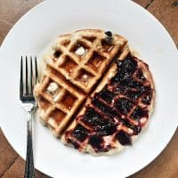 Chocolate Chip Coconut Gluten-Free Waffles are made with Pamela's baking mix, delicious to serve for any breakfast, brunch, or dinner!