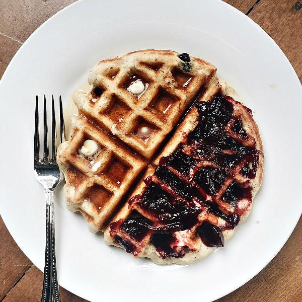 Chocolate Chip Coconut Gluten-Free Waffles